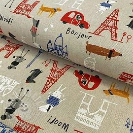 Decoration fabric Linenlook Sacre Coeur
