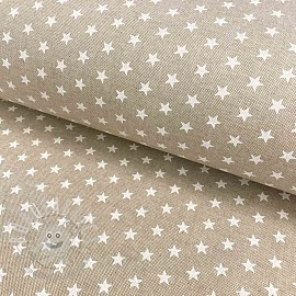 Decoration fabric Linenlook Stars