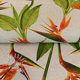 Decoration fabric Linenlook Strelitzia