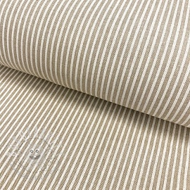 Decoration fabric Linenlook Stripes