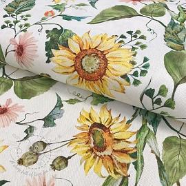 Decoration fabric Sunflowers digital print
