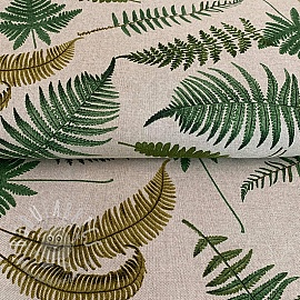 Decoration fabric Linenlook Vintage Ferns