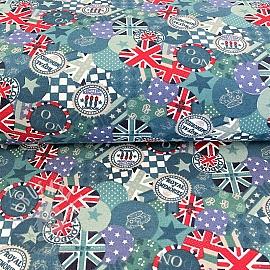 Decoration fabric London petrol