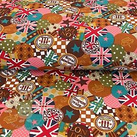 Decoration fabric London rust