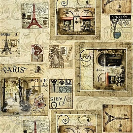 Decoration fabric Mail from Paris digital print