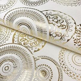 Decoration fabric Mandala chique metallic premium