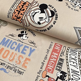 Decoration fabric Mickey Mouse Film beige digital print