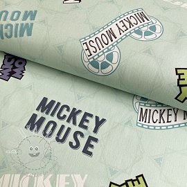 Decoration fabric Mickey Mouse Movie banner green digital print