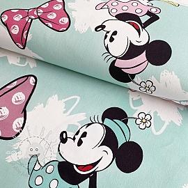 Decoration fabric Mickey Mouse Sweet Minnie BIG blue digital print