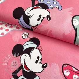 Decoration fabric Mickey Mouse Sweet Minnie BIG rose digital print