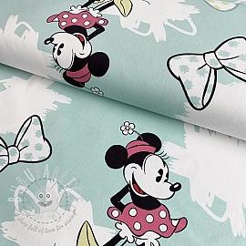 Decoration fabric Mickey Mouse Sweet Minnie blue digital print
