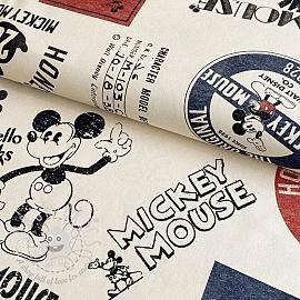 Decoration fabric Mickey Mouse The original beige digital print