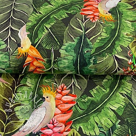 Decoration fabric premium Parrot Paradise digital print