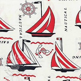 Decoration fabric Sailing life