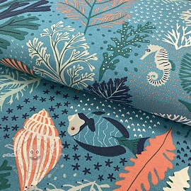 Decoration fabric Scuba Dive