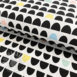 Decoration fabric Semicircles