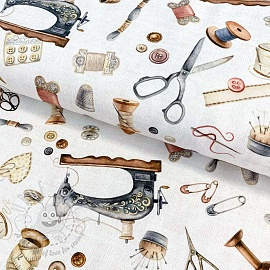 Decoration fabric Sewing kit white digital print