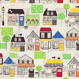 Decoration fabric Shopping street