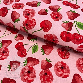 Decoration fabric Strawberries premium