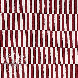 Decoration fabric tripe red