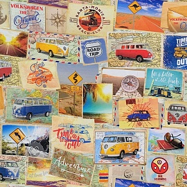 Decoration fabric VW Original Road LICENSE digital print