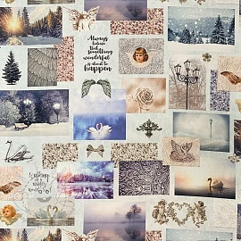 Decoration fabric Winter wonderland premium