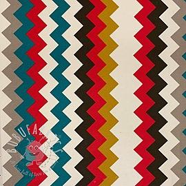 Decoration fabric Zigzag vertical