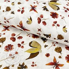 Double gauze/muslin smooth Amor butterflies bright digital print