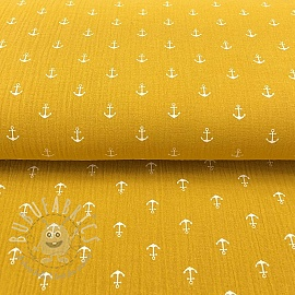 Double gauze/muslin Anchor ochre