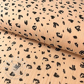 Double gauze/muslin Animal skin soft salmon