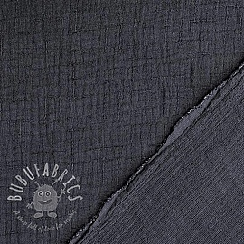 Double gauze/muslin Bamboo anthracite
