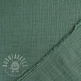 Double gauze/muslin Bamboo dark old green