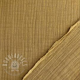 Double gauze/muslin Bamboo dark sand