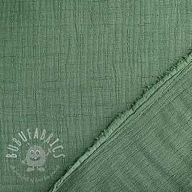 Double gauze/muslin Bamboo old green