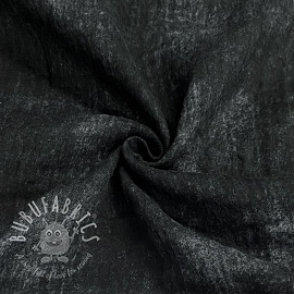 Double gauze/muslin Crinkled Jeans black