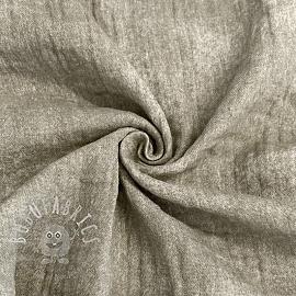 Double gauze/muslin Crinkled Jeans pebble