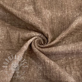 Double gauze/muslin Crinkled Jeans taupe