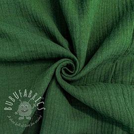 Double gauze/muslin dark green GOTS
