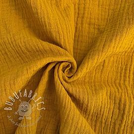 Double gauze/muslin dark yellow