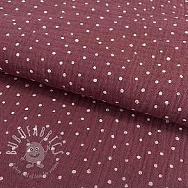 Double gauze/muslin Dots berry
