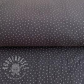 Double gauze/muslin Dots dark grey