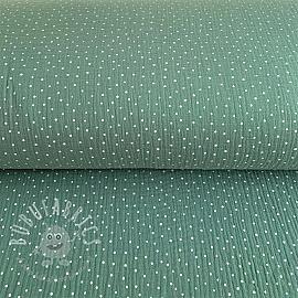 Double gauze/muslin Dots green