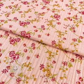 Double gauze/muslin Floraly rose