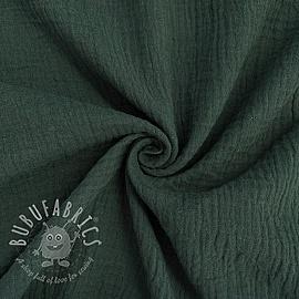 Double gauze/muslin forest green