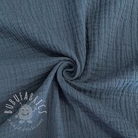 Double gauze/muslin jeans blue GOTS