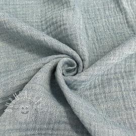 Double gauze/muslin Melange jeans