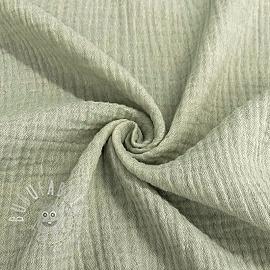 Double gauze/muslin Melange old green