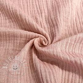 Double gauze/muslin Melange old pink
