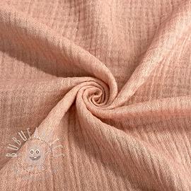 Double gauze/muslin Melange pink