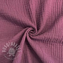 Double gauze/muslin purple GOTS